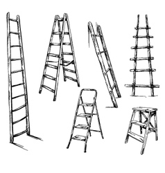 Ladders drawing vector