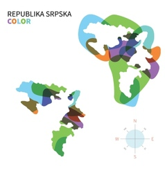 Abstract color map of republika srpska vector
