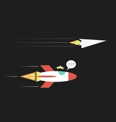 37paperplanerocket vector image