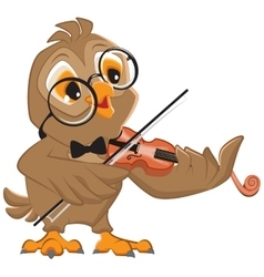 Owl plays the violin vector