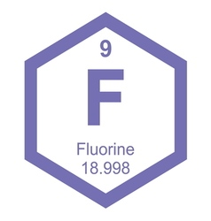 Periodic table fluorine vector