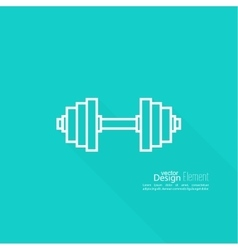 Dumbbells lying on floor vector