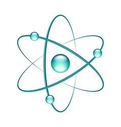 Atom isolated on white vector