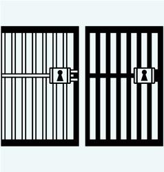 Prison jail vector image