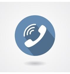 Ringing phone handset icon isolated on white vector image