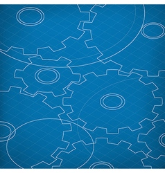 Blueprint of cogs blueprint abstract background vector