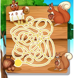Game template with squirrels and nuts vector