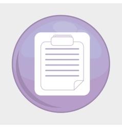 Document button icon social media design vector