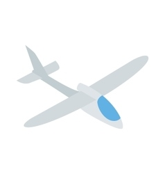Grey plane icon isometric 3d style vector