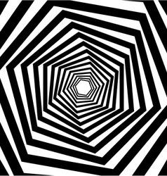 Abstract hexagonal optical vector image
