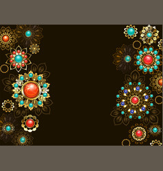 background with ethnic ornaments vector image vector image