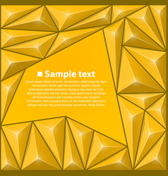 background with triangles yellow vector image vector image