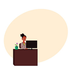 black african american businesswoman secretary vector image