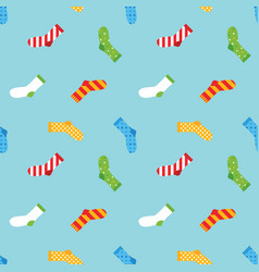Colorful socks seamless pattern background vector