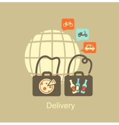 delivery of food icon vector image