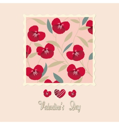 flowers card valentines day vector image vector image