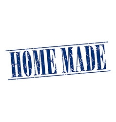 Home made blue grunge vintage stamp isolated on vector
