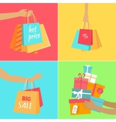 Hot Price Concept in Flat Design vector image vector image