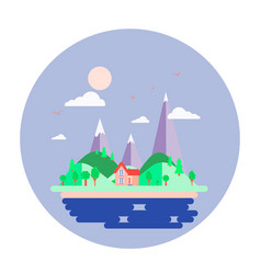 Island and seascape earth vector