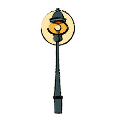 Lantern bulb light decoration street vector