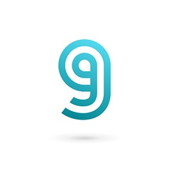 Letter G number 9 logo icon design template vector image vector image