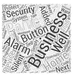 Panic alarms for added security in homes and vector