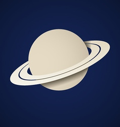 Paper planet saturn icon vector