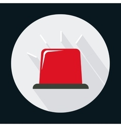 Red alarm industrial security safety icon vector