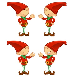 Red Elf Presenting vector image vector image