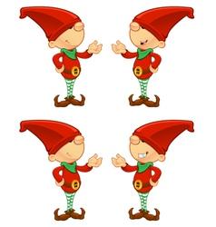 Red elf presenting vector