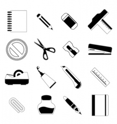 stationery object vector image vector image