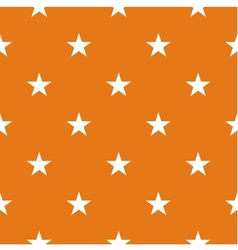 Tile pattern with white stars on orange background vector image