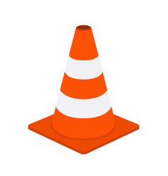 traffic cone road equipment cartoon style vector image