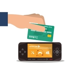 Videogame payment and shopping design vector