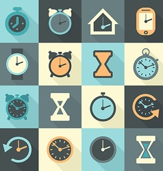 Watch flat vector image vector image