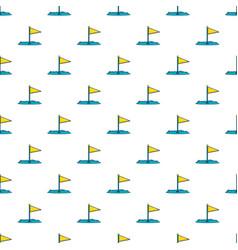 Yellow golf flag pattern vector