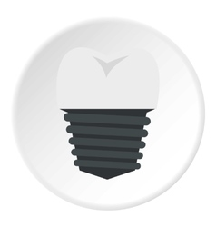 Screw tooth implant icon flat style vector