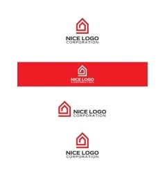 Home inside the house logo vector