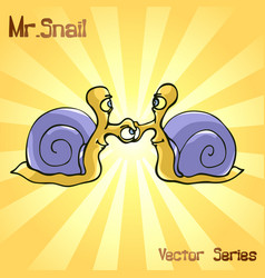 Mr snail with handshake vector