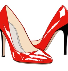 A pair of red shoes vector