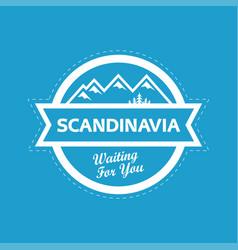 Landscape of scandinavia nature vector