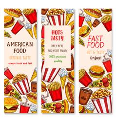 Fast food restaurant banners set vector