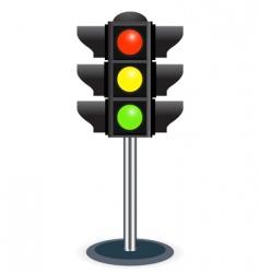 traffic lights vector image