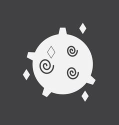 White icon on black background spinning satellite vector