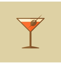 Martini food flat icon vector