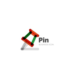 Line minimal design logo pin vector