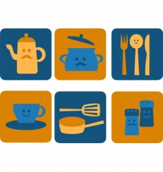 Eating and dining vector