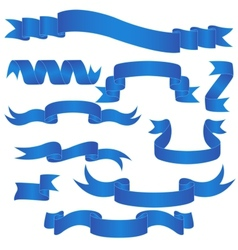 Blue Banner Set vector image