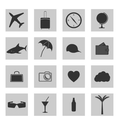 Set of icons travel vector