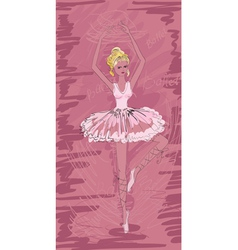 Painted ballerina vector
